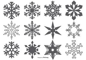 Vector Snowflake Shapes
