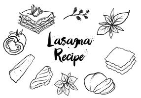 Free Hand Drawn Lasagna Vector
