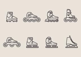 Roller Blade Icon Set