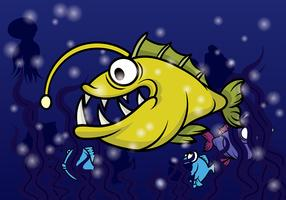 Angler Fish Vector
