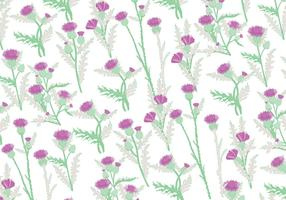 Thistle Pattern Vector