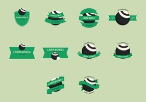Lawn Bowls Icon Set