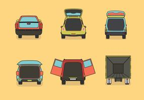 Car boot vector illustration color