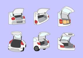 Car boot vector illustration