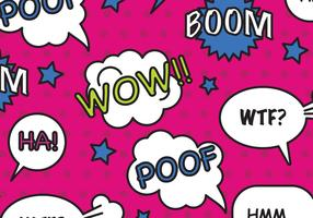 Comic Bubbles Pattern Vector