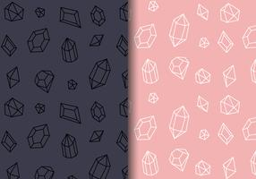 Free Gems Pattern Vector