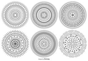 Mandala Style Vector Shapes Collection