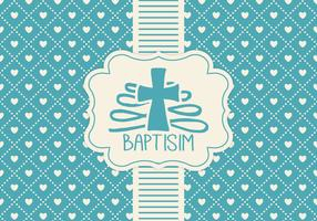 Blue Baptisim Card Template