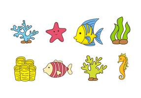 Free Coral Reef and Fish Vector