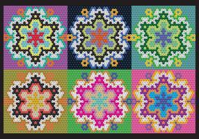 Huichol Blumen Muster