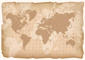 Vintage World Map Vector