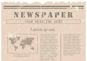 Vintage Old Newspaper Background