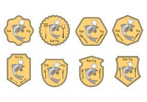 Set Of Fish Fry Badge