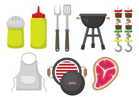 Brochette Vector Icons