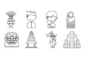 Free Bali Icon Vector