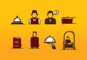 Concierge Icon Set Vector