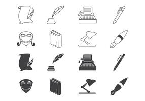 Free Writing and Literature Icon Vector