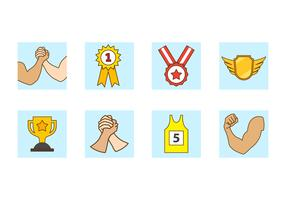 Free Arm Wrestling Vector Icon
