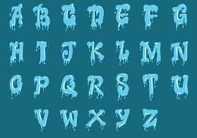 Set Of Water Alphabet Uppercase