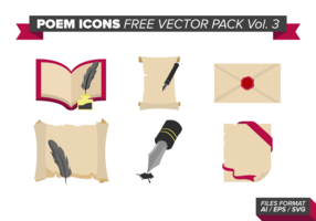 Poem Icons Free Vector Pack Vol. 3