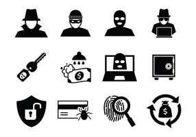 Free Theft and Thief Icons Vector