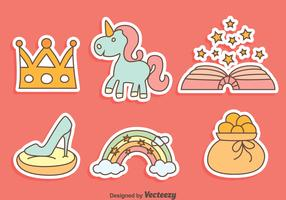 Fairy Tale Story Telling Element Vector Set