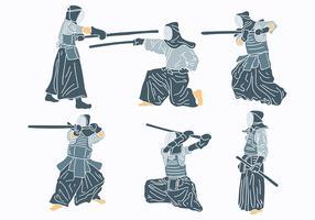 Libre Kendo Iconos Vector