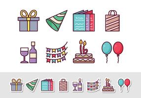Free Birthday Sticker Icons