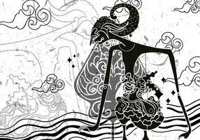 "Wayang ""Gunungan"" Illustration"