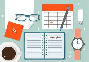 Free Creative Office Vector Background
