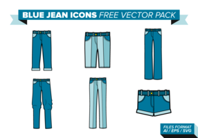 Blue Jean Icons Free Vector Pack