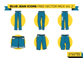 Blue Jean Icons Free Vector Pack Vol. 2