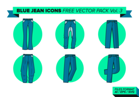 Blue Jean Icons Free Vector Pack Vol. 3