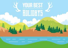 Free Holiday Vector Landscape