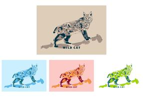 Wildcat in Popart Portrait - Free