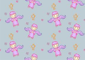 Free Bautizo Seamless Pattern Vector Illustration
