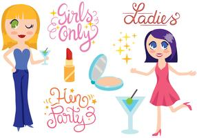Free Girls Night Vectors