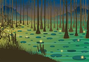 Swamp Night  Free Vector
