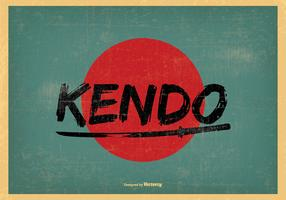Retro Art Kendo Illustration