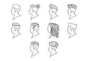 Free Hairstyle Icon Vector