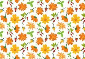 Free Flowers Pattern Vectors