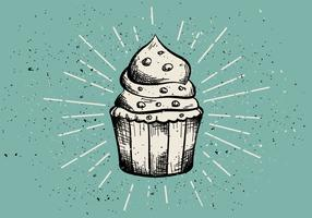 Free Vintage Hand Drawn Muffin Background