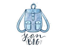 Free Blue Jean Bag