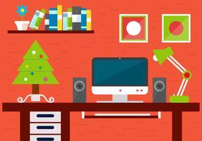 Free Christmas Vector Desk