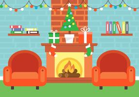 Free Christmas Vector Fireplace