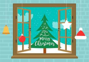 Free Vector Christmas Window