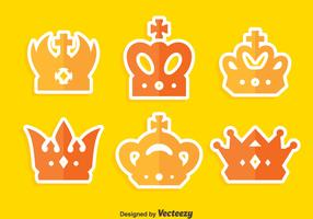 Flat British Crown Collection Vector