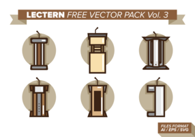 Lectern Free Vector Pack Vol. 3