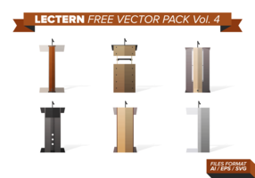 Lectern Free Vector Pack Vol. 4