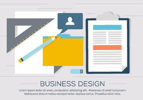 Free Business Workdesk Illustration